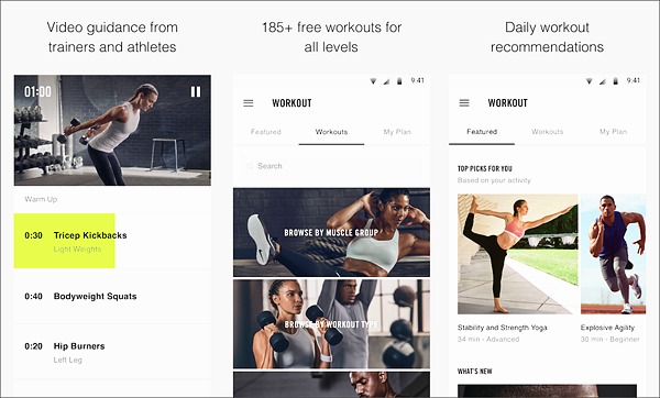 Nike Training Club is one of the best Android Fitness and Workout Apps for Bodybuilding.