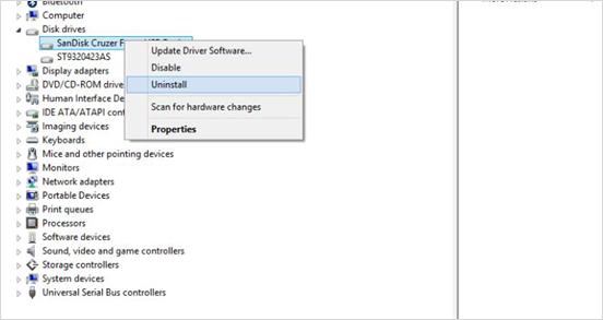 Réinstallez le pilote USB
