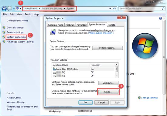 Eingebaute Windows Backup Funktionen