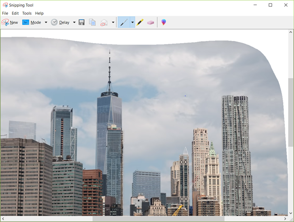 Take Picture from Video with Windows 10 Snipping Tool