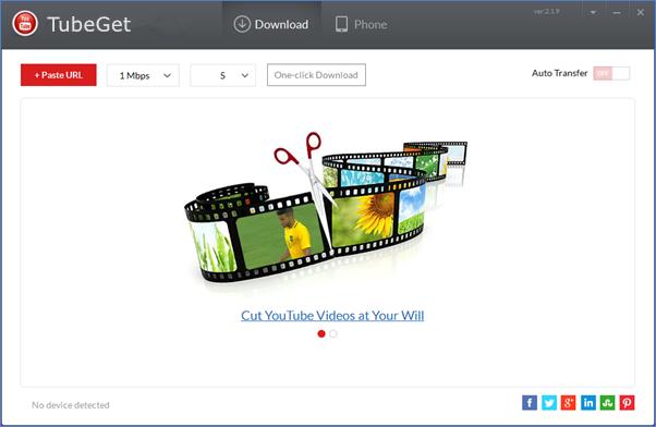 Siga los pasos a continuación para guardar la lista de reproducción de YouTube con TubeGet.