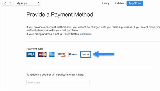 Create an unpaid Apple ID on a Windows PC