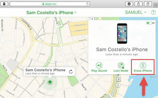 Borrar con iCloud para desbloquear un iPhone desactivado