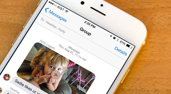 Comment envoyer de vidéos longues et lourdes d'un iPhone à d'autres