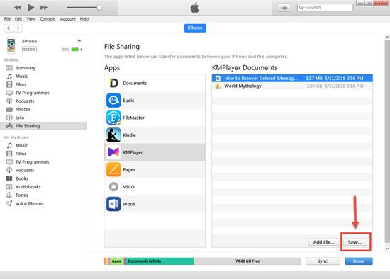 Schritte zum Übertragen von Videos vom iPhone auf den Computer über iTunes