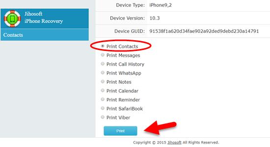 Cómo imprimir contactos desde iPhone / iPad directamente