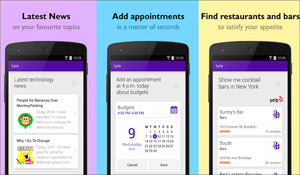 Lyra Virtual Assistant is one of the best Android Assistant Apps in 2019.