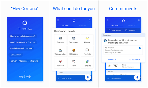 Microsoft Cortana is one of the best Android Assistant Apps in 2019.