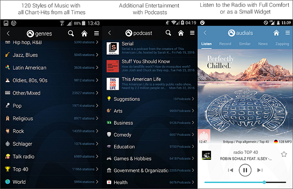 Radio Player – Audials is best Radio Apps for Android to Stream Online Music.