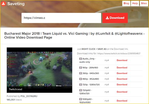 Online Twitch Video Downloader