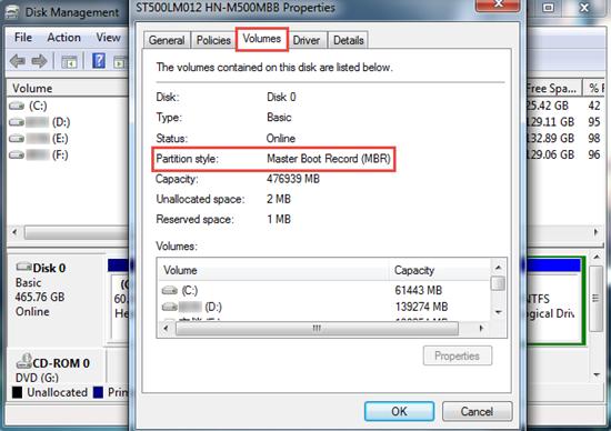 Vous n'êtes pas sûr que votre disque dur utilise MBR ou GPT?