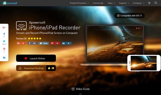 iPhone/iPad Recorder, Aplicación de iOS Mirror para iPhone