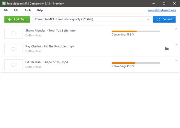 Free Video to MP3 Converter, 5 meilleur convertisseur de vidéo en MP3.