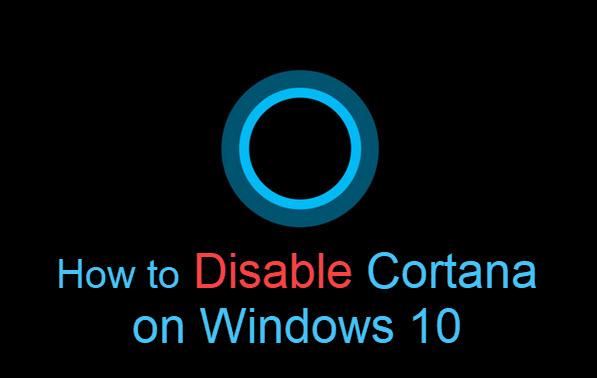 How to Disable Cortana