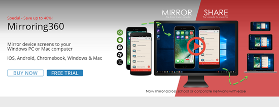 Mirroring360, Aplicación de iOS Mirror para iPhone