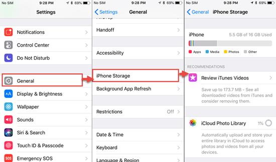 Vérifiez votre stockage iPhone