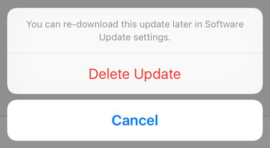 Téléchargez à nouveau le fichier de mise à jour iOS 12