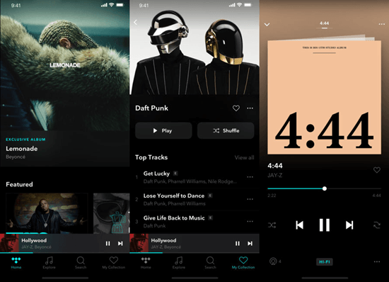 Tidal, Beste Musik Download Apps für iPhone.
