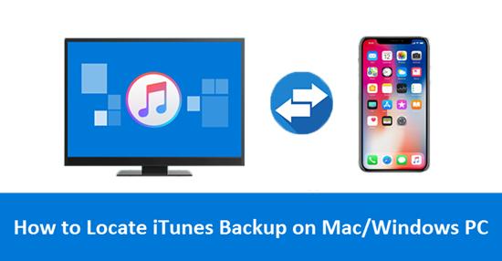 Comment trouver un emplacement de sauvegarde iPhone / iPad sur un Mac ou un PC Windows (iTunes)?