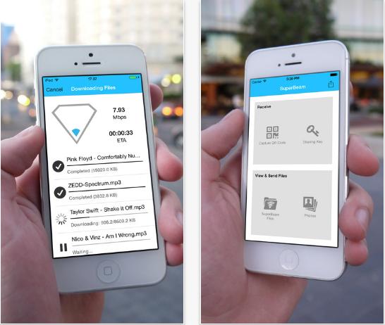 SuperBeam Lite – Einfaches und schnelles WLAN-Direktes-Datei-Sharing