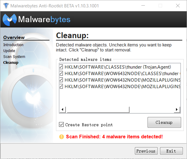 Malwarebytes Anti-Rootkit is one of the best Keylogger Rootkit Detector and Remover Software.