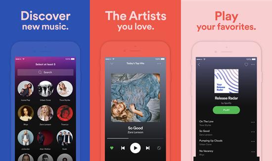 Spotify, Applications de téléchargement de musique pour iPhone.