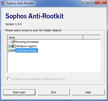 Sophos Rootkit Removal is one of the best Keylogger Rootkit Detector and Remover Software.