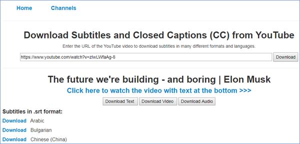 YouSubtitles, Comment télécharger des sous-titres YouTube?