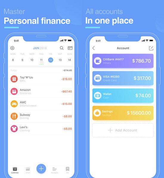 Pocket Expense Lite , Applications de gérer son budget pour iPhone / iPad.