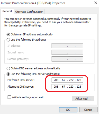 How to block porn sites using DNS Configuration on Windows