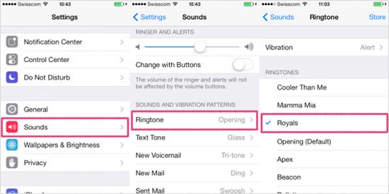 Comment changer la sonnerie pour iPhone / iPad / iPod touch