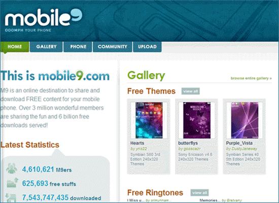 Mobile9.com, Lista de los 5 mejores sitios para descargar tonos de iPhone.
