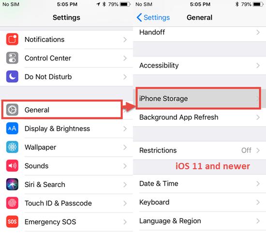 Schritte zum Löschen des heruntergeladenen iOS-Updates auf dem iPhone/iPad