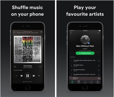 Aplicación de música sin conexión para iPhone - Spotify, Las mejores aplicaciones de música sin conexión para iPhone.