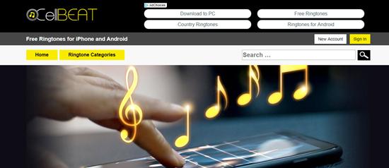 CellBeat.com, Liste des 5 meilleurs sites de téléchargement de sonnerie pour iPhone.