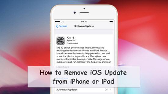 Wie kann man das iOS-Update löschen?