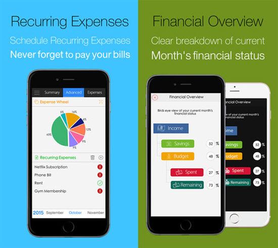 Expense Tracker, Applications de gérer son budget pour iPhone / iPad.