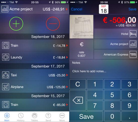 Live Expenses, Mejores aplicaciones de organizar presupuestos para iPhone / iPad.