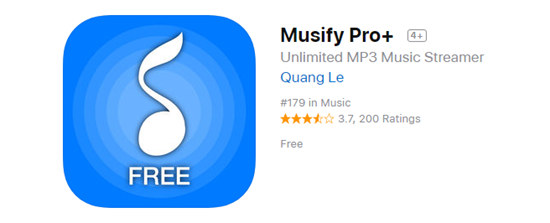 Aplicación de música sin conexión para iPhone - Musify Pro +