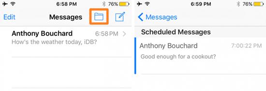 Wie man eine Textnachricht mit einem geknacktes iPhone vorausplant