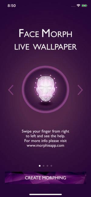Face Morph Live Wallpaper, Les Meilleures Applications de Fond d'écran Vivants pour iPhone.