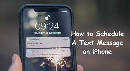 Wie plant man Textnachrichten auf dem iPhone im Voraus?