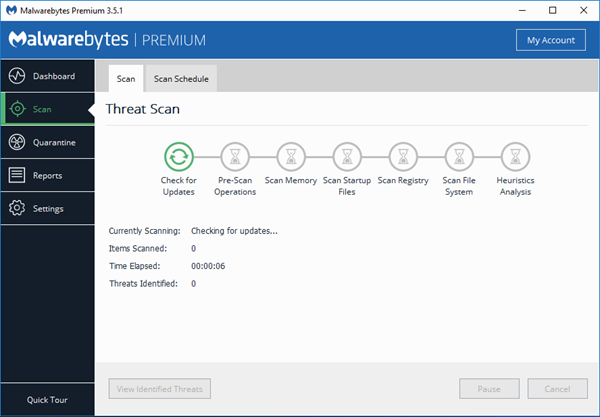 Remove ZEUS Virus Scam with Malwarebytes