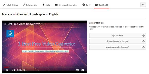 Cómo agregar subtítulos al video de YouTube