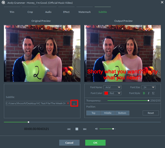Añadir subtítulos al video con Freeware