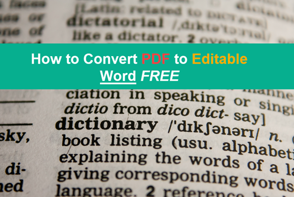 How to Convert PDF to Editable Word