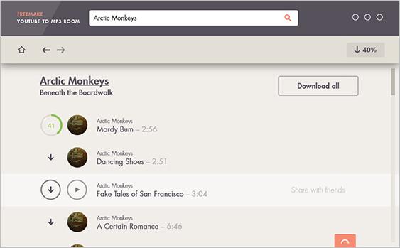Freemake Free YouTube Converter, Convertissez vos vidéos YouTube en MP3 et MP4 plus rapidement.