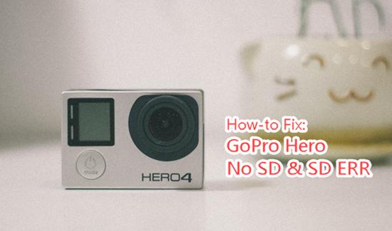 Comment réparer une erreur de carte SD sur GoPro Hero?