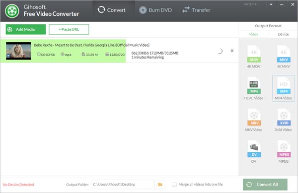 Jihosoft Free Video Converter, Convertissez vos vidéos YouTube en MP3 et MP4 plus rapidement.