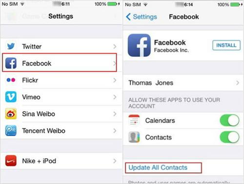 Importer manuellement les contacts de Facebook vers Android et iPhone